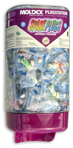 Moldex® Uncorded Packaged SparkPlugs® PlugStation® Dispenser (250 Pairs) #6605