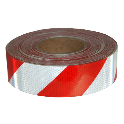 Class 1 Reflective Tape (Red/White) 50mm x 45.7m TAPERRW50.8-45