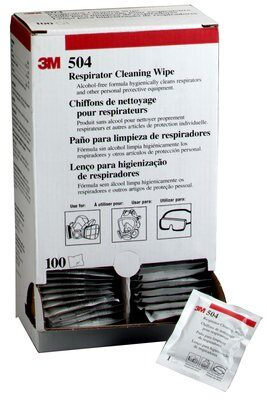 3M™ Respirator Cleaning Wipes 504 (Box 100)