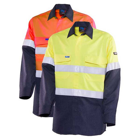 Bool Shirt Parvotex® Inherent Fire Retardant Two Tone L/S c/w Loxy® FR Tape HRC2 # BW2590T1