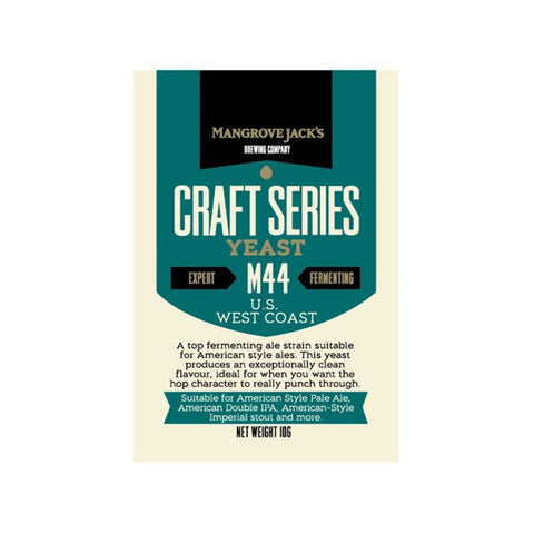 Mangrove jacks west Coast ale yeast M44
