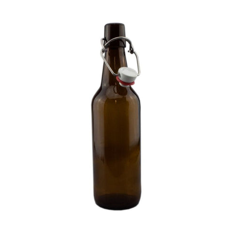 Amber Swing Top Bottles x12