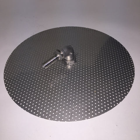"Stainless Steel Domed False Bottom 9"" large barb"