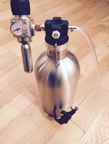 Growler tap with co2 complete kit - Keg kingdom