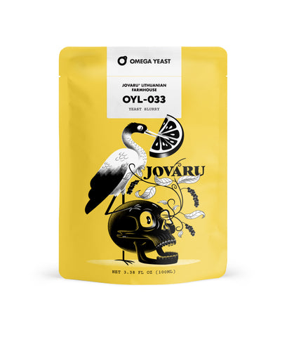 OMEGA Yeast – OYL-033 – Jovaru™ Lithuanian Farmhouse. BB: 13/10/2020