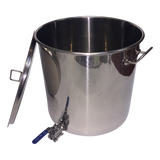 50 litre Stainless Pot with 3 piece ball valve