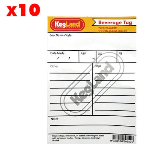 (10 PACK) BEVERAGE TAG - LABEL, STICKER