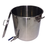70 litre Stainless Pot with 2 piece ball valve