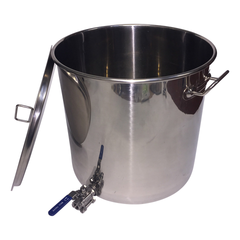 33 litre Stainless Pot with 3 piece ball valve