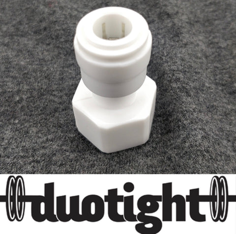 "DUOTIGHT 9.5MM(3/8) PUSH IN TO 1/2"" FEMALE"