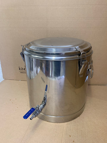 50L Stainless steel thermos pot with lid.