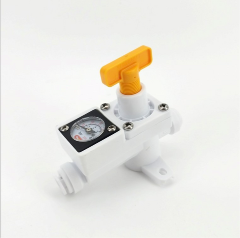 "DUOTIGHT INLINE IN LINE REGULATOR - WITH INTEGRATED GAUGE FOR WATER OR GAS - 8MM (5/16"" PUSH IN)"