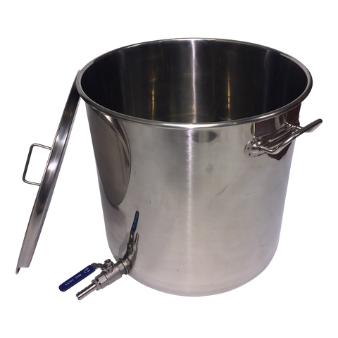 33 litre Stainless Pot with 2 piece ball valve