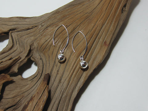 sterling silver bead drop earring 925 Canterbury