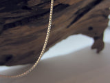 Traditional sterling silver box chain which is .92mm wide. 925 Silver Canterbury