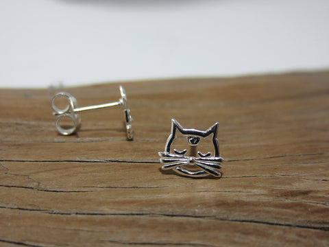 sterling silver cat's whiskers studs 925 Canterbury