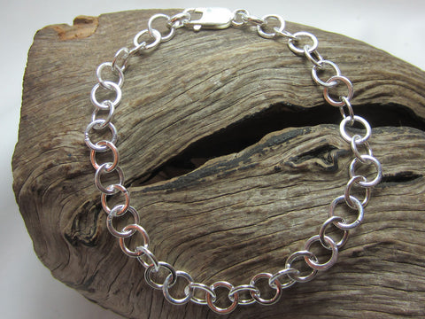 sterling silver circle link bracelet 925 canterbury
