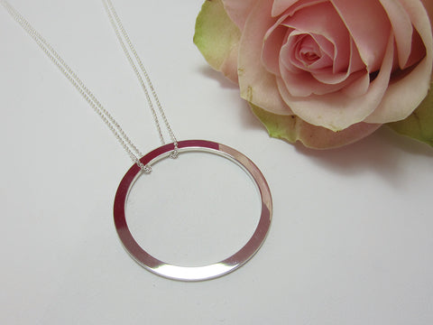 circle necklace sterling silver necklace 925 canterbury