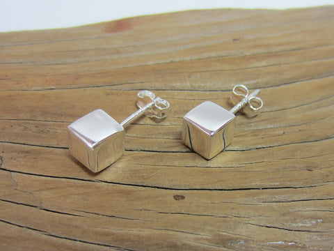 sterling silver cube studs 925 Canterbury