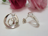 sterling silver curvy stud earrings organic 925 canterbury
