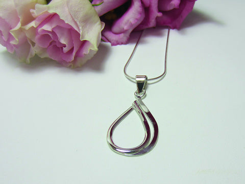 sterling silver double edge pendant 925 Canterbury
