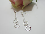 sterling silver double circle drop earrings 9235 Canterbury