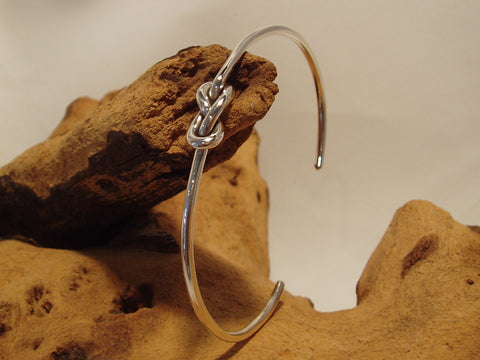 sterling silver double knot cuff organic 925 canterbury