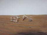 sterling silver elephant stud earrings 925 Canterbury