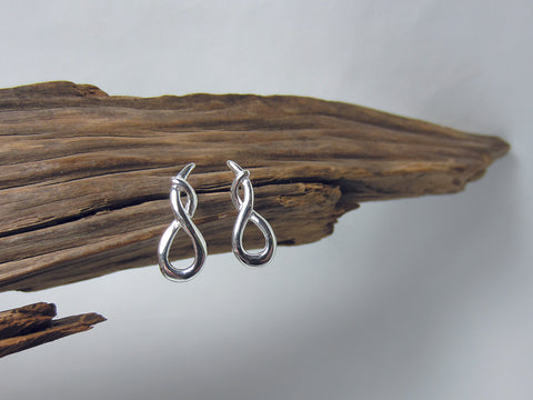 entwined loop sterling silver stud 925 Canterbury