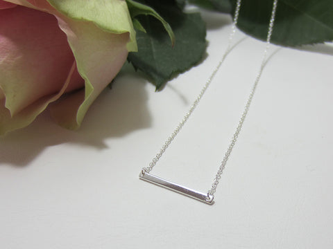 sterling silver fine bar necklace 925 Canterbury