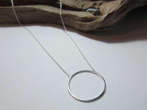 sterling silver fine circle necklace 925 Canterbury