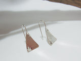 sterling silver hammered triangle drops 925 Canterbury
