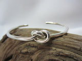 sterling silver heavy knot cuff bangle bracelet 925 canterbury
