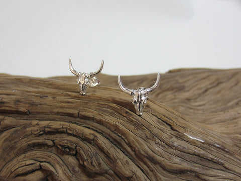 sterling silver highland cattle studs