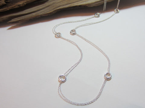 long doughnut bead necklace