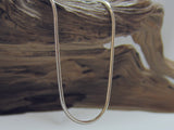 Lovely quality, sterling silver Italian snake chain which is 1.1mm in diameter.