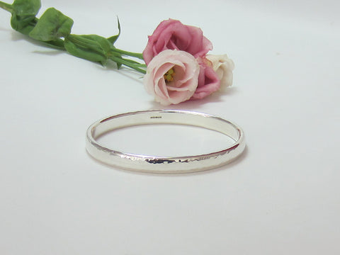 sterling silver hammered bangle 925 Silver Canterbury