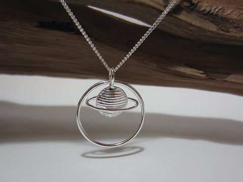 sterling silver planet pendant 925 Canterbury