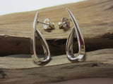sterling silver ribbon stud earrings 925 Canterbury