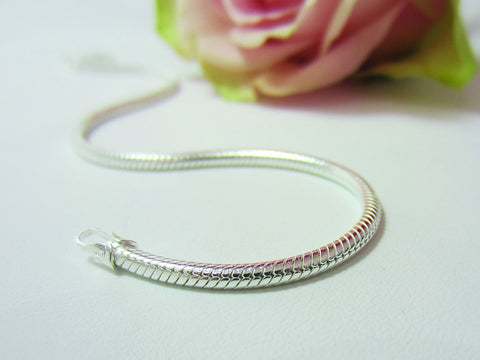 sterling silver snake bracelet charms 925 silver canterbury