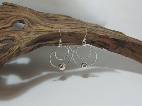 trapeze bead drops sterling silver earrings 925 Canterbury