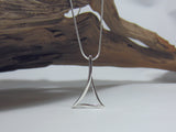 sterling silver triangle pendant 925 Canterbury