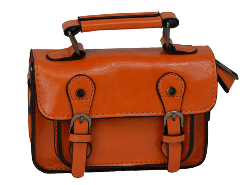 Orange Mini Satchel