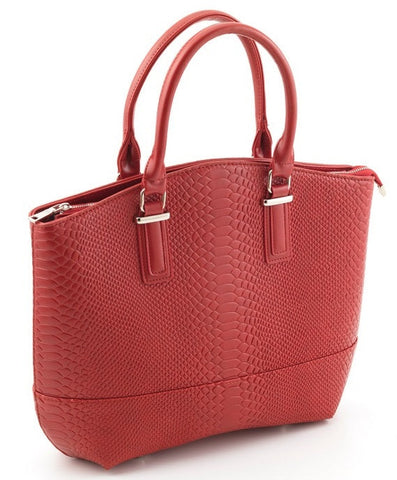 Red Anaconda Tote