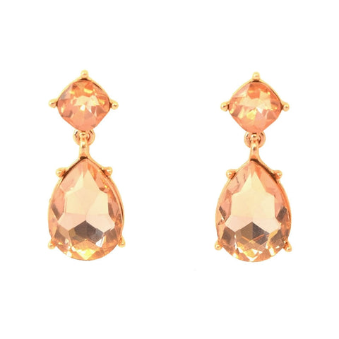 Pastel Pink tear-drop earrings