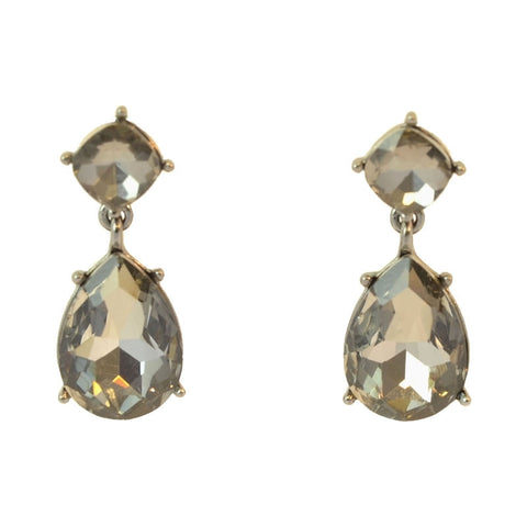 Dark Grey tear-drop earrings