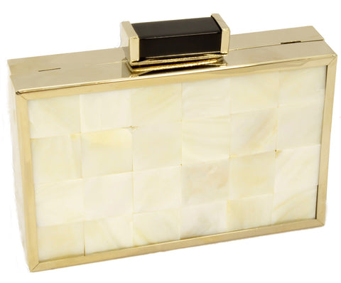 Ivory shell Clutch