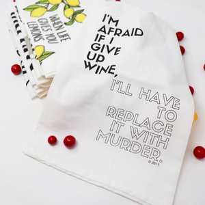 Wine For Murder Dish Towel