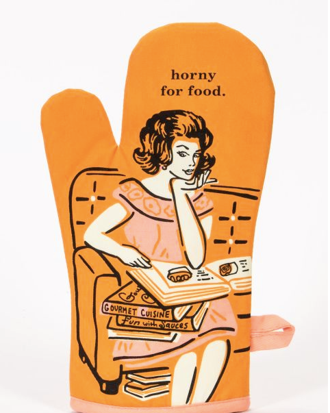 Horny For Food Oven Mitt