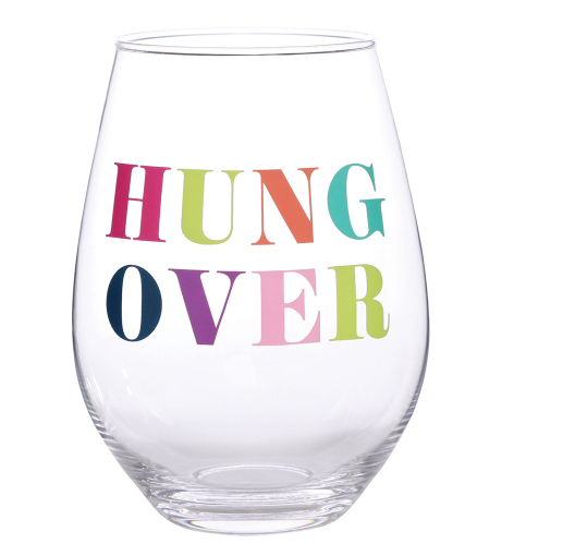 Hungover Oversized Wine Glass